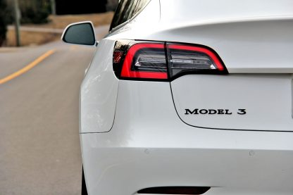 Model 3 Badge Emblem Black Rear
