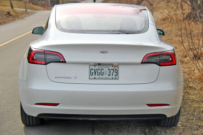 Model 3 Badge Emblem Chrome Rear