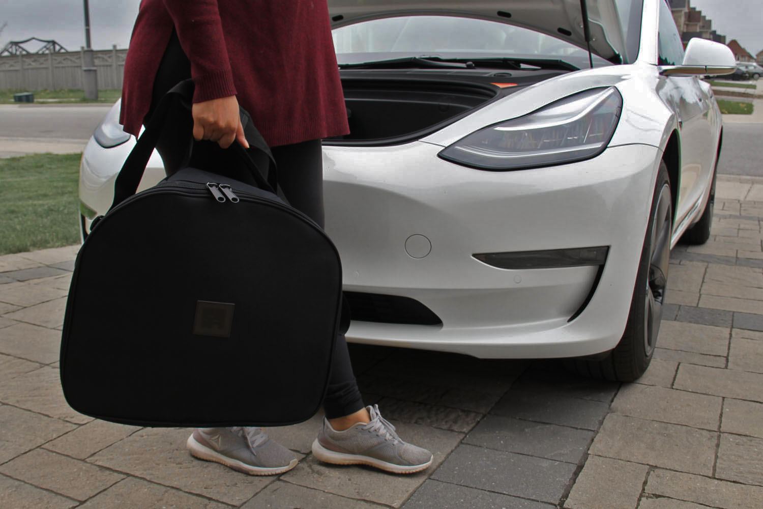 Model 3 luggage bag carry in trunk