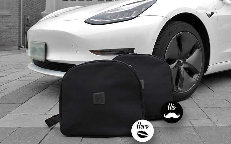 Model 3 frunk luggage bag pair