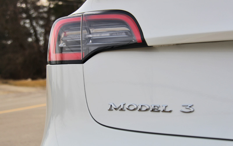 Model 3 badge trunk