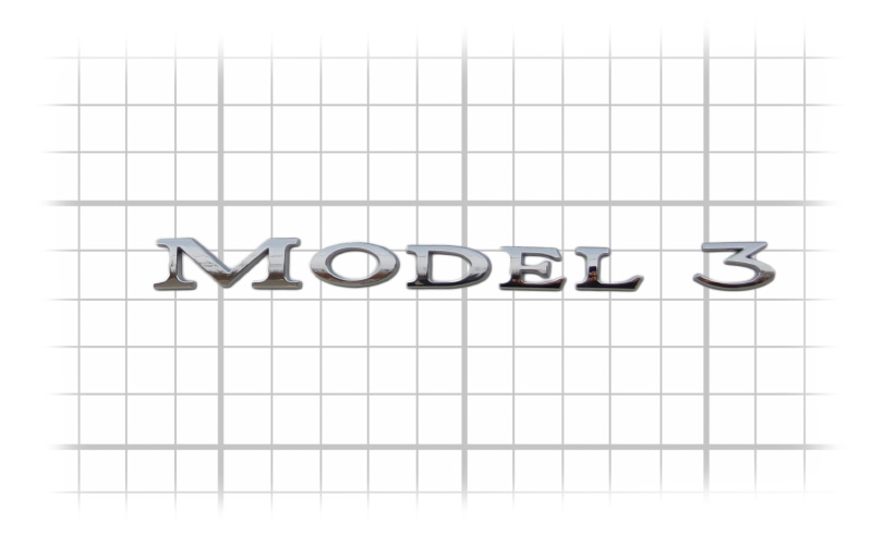 Model 3 badge emblem size