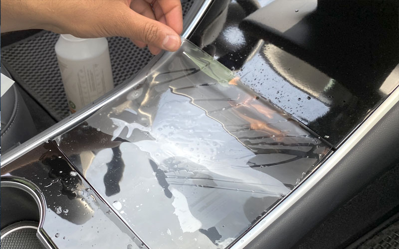 model 3 center console clear film instructions