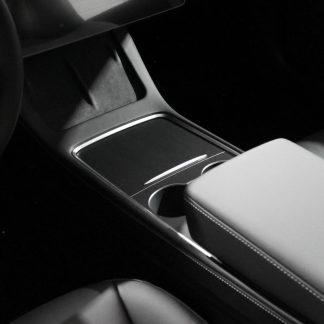 2021 Tesla Model 3 Matte Black Console Wrap