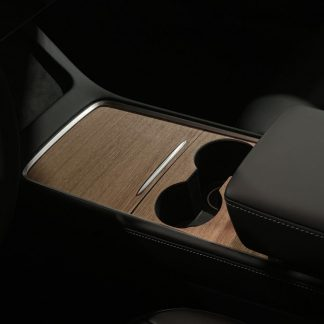 2021 Tesla Model 3 Console Wrap Wood