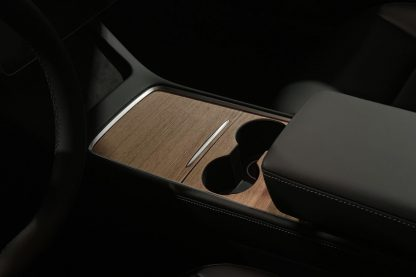 2021 Tesla Model 3 Console Wrap Wood
