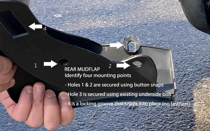 Install Model Y mud flaps